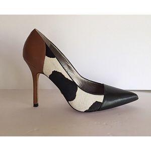 Sam Edelman Desiree animal print & calf hair pumps
